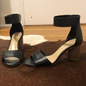 Vince Camuto Leather Block Heels